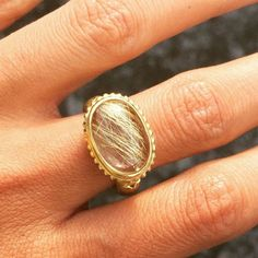 This @shamilafinejewelry rutilated quartz ring is just special. The hairs in the stone makes it a truly one of a kind! #shamilafinejewelry #shamilajiwa #rutilatedquartz #finejewelry #gemstone #gems #jewelryADD #diamonds #ring #oneofakind #jewelry #schmuck #jewelrylove #gioielleria #joyeria #joias #bijoux