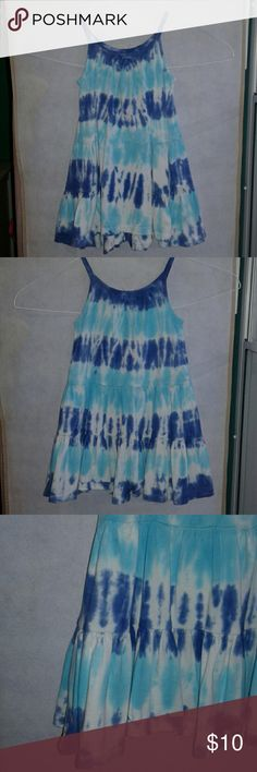 Tie dye dress!  2T Very good condition!!  The tag has been cut out though.  It fits so good and comfortable.   This was my daughter's favorite thing to wear!  Colors are light blue and dark purple. Dresses