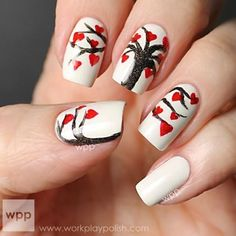 Tutorial - Winter and Christmas Nails including Christmas Tree, Rudolph, Christmas Gift, Snowman, and others.  Can be translated by using Google Translate.