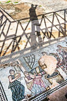 Roman mosaics Kato Paphos Archeaological Park Cyprus