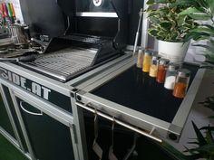 Kitchenbox - go-outside. Vw Bus, Caravan, Camping Box, Shops, Alpha Delta, Espresso Machine, Vehicle, Kitchen Appliances, Space
