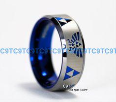 & Tungsten Wedding Set, Brushed Black With Deep Ocean Blue Groove, Custom Engraved Inside Tungsten Wedding Rings, Tungsten Carbide Rings, Light Games, Symbol Design, Tool Steel, Engraved Rings, Blue Rings, Custom Engraving, Cool Items