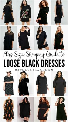 Plus Size Shopping Guide to Loose Black Dresses