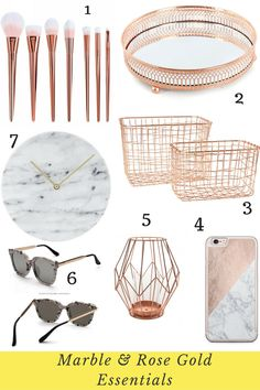 Flowers For Home Decoration Rose Gold Room Decor, Rose Gold Rooms, Gold Bedroom Decor, Rose Gold And Grey Bedroom, Bedroom Furniture, Décoration Rose Gold, Rose Gold Marble, My New Room, My Room