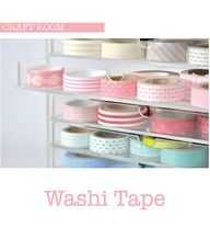 Washi tape in acrylic drawers to show off the patterns/color and organize them by sight Craft Room Storage, Craft Organization, Storage Ideas, Craft Rooms, Kitchen Storage, Stationary Organization, Washi Tape Storage, Ribbon Storage, Cinta Washi
