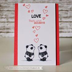 Verliebte Pandas, von Mama Elephant, Liebes-Karte