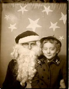 +~ Vintage Photo Booth Picture ~+  Photo booth Santa