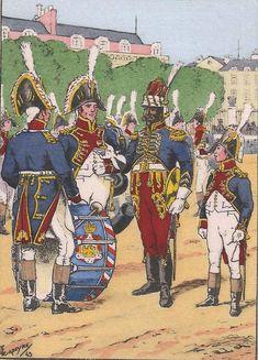 Musiciens du Corps des Grenadiers à pied de la Garde Impériale (Grande tenue 1805 - 1810).