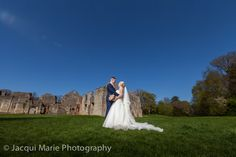 Bride and groom at Netley Abbey in glorious weather, photographed by Hampshire wedding photographers Jacqui Marie Photography. VISIT http://jacqui-marie-photography.co.uk for details.  #wedding #photography #weddingphotography #Hampshire #England #uk