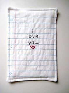 Bored? Stitch a paper pillow for someone you love!