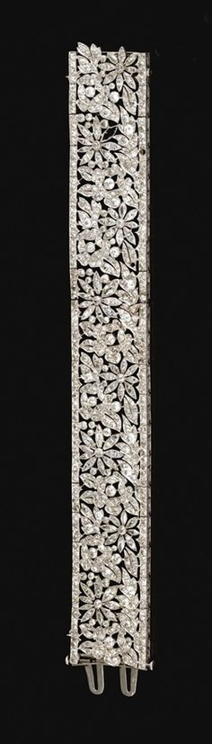 BRAZALETE FRANCES DE DIAMANTES 1915