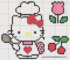 "Delicado Cantinho: Gráficos Ponto Cruz ""Hello Kitty"""