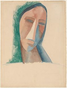 Head of a Woman Pablo Picasso (Spanish, Malaga Mougins, France ) 1908 Pablo Picasso, Art Picasso, Picasso Paintings, Georges Braque, Action Painting, Cubist Movement, Art Moderne, Ocean Art, Museum Of Modern Art