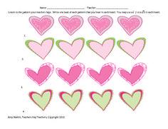 Valentine's Day Rhythm Freebie Download   Rhythm Dictation and Rhythm Composition Worksheets