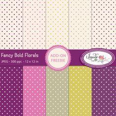 Fancy bold florals add on freebie