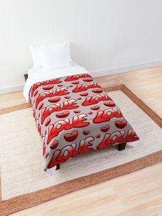 Liebe Design und Accessoires zu genießen • Entdecke einzigartige Designs und Motive von unabhängigen Künstlern. Comforters, Blanket, Designs, Bed, Amazing, Home, Love Design, Creature Comforts, Quilts