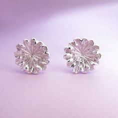 Hey, I found this really awesome Etsy listing at https://www.etsy.com/au/listing/32108252/sterling-silver-flower-post-earrings