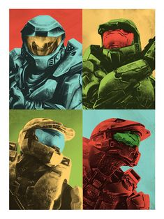 HALO: Master Chief Gets A Warhol Style Poster (For my brother.)
