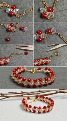 Like the red pearl beads bracelet?The details will be shared by LC.Pandahall.com soon. | Bracelets & Bangles 2 | Pinterest by Jersica