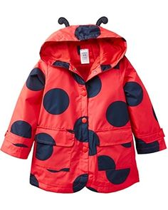 Keep your little one dry with this too-cute ladybug rain jacket.