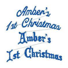 Ambers 1st Christmas custom design for ST - custom emboridery design by LLHembroidery on Etsy