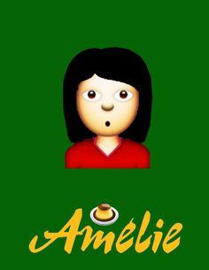 Des affiches de films façon emoji : Amélie Poulain