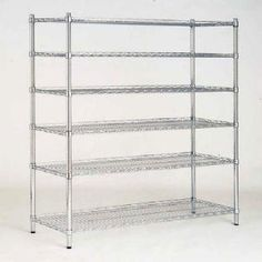 48 In. W X 72 In. H X 18 In. D Decorative Wire Chrome Finish Commercial Shelving…