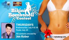 Come see the Bikini Bombshell Contest at 7:30pm, just before the Summerland Tour 2013 featuring Everclear, Live, Filter and Sponge!