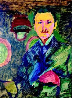 Self Portrait by Emile Filla (1882-1953), Czech had affinities with the Expressionist group Die Brücke (wiki - i.idnes.cz)