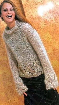 Пуловер с блестками   Вязание и рукоделие