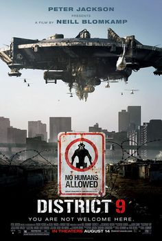 From producer Peter Jackson and director Neill Blomkamp comes a startlingly original science-fiction thriller where alien refugees, stranded on Earth, are exiled to a slum on the fringes of Johannesburg. Sci Fi Movies, Action Movies, Movies To Watch, Disney Movies, Science Fiction, Love Movie, Movie Tv, Movie Titles, Movie Quotes
