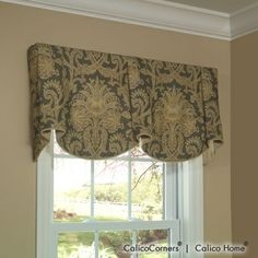 Sheffield Valance in Dianna/Pewter