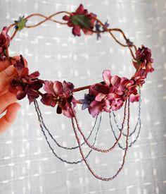idée d'accessoires pour Sapho, déclinable en plus simple pour les demoiselles d'honneur
