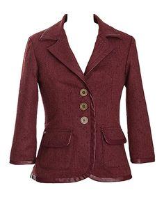 Look at this #zulilyfind! Cinnamon Needles & Pins Wool-Blend Blazer by Nick & Mo #zulilyfinds