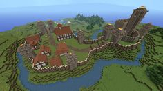 Minecraft Building Ideas: Motte and Bailey Castle