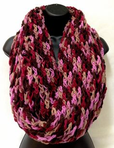 Pure Wool Crochet Infinity/ Round/ Circle by Africancrab on Etsy, $30.00