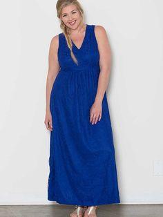 Elsa Lace Plus Size Maxi Dress - Royal Blue – SexyPlus Clothing