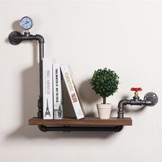 Loft Style Furniture Wall Hanging Iron Pipe Book Shelf Creative Art Display Shelves Bookcase Decorative Bookshelf FJ ZN1Y 005A0-in Bookcases from Furniture on Aliexpress.com | Alibaba Group