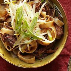 Sesame Beef Noodle Bowl - yummy!