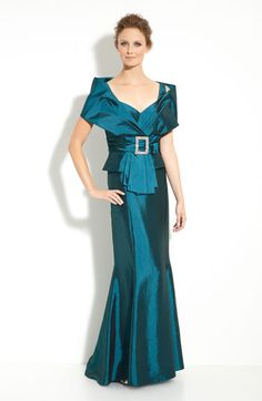 Daymor Taffeta Jacket with Trumpet Skirt available at #Nordstrom (comes in teal and cobalt blue but is $525!)