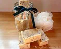 This particular organic soap recipe simply leaves you feeling fresh and will revive your senses. Additionally, it features antiseptic as well as deodorizing benefits, and the mustard seeds help exfoliate and smooth rough edges. Soap Making Recipes, Homemade Soap Recipes, Organic Soap, Organic Homemade, Organic Recipes, Diy Masque, Handmade Soaps, Diy Soaps, Homemade Beauty Products