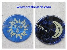 resin, coaster, how to, how to use, how to make, craft ideas, how to use resin, crafting, crafts, craftklatch, craft klatch, sun, moon, celestial