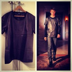 Blk Dnm Fall Winter 2013. Look no. 7. The Leather T-shirt.