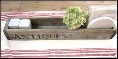 It used to be a fence... now it is an Antique Flower Box... makes a great centerpiece! www.homeroad.net