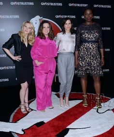 The Ghostbusters hit the red carpet!