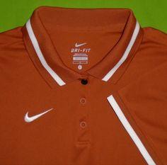 addd88506 Nike Dri-Fit Golf Polo Shirt Wicking Fabric Rust S S Women size Large