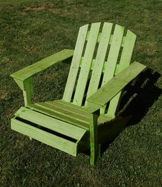 Woodland Green Repurposed Wood Adriondack Chair by TwiceLife, $100.00