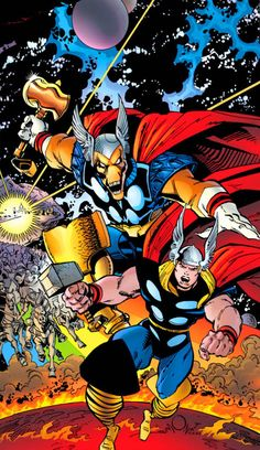Beta Ray Bill  and Thor by Walt Simonson