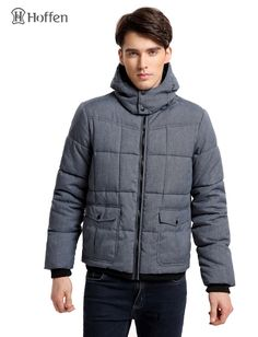 59.80$  Buy here - http://aliv4s.worldwells.pw/go.php?t=32754695935 - Hoffen Fashion Design Winter Men's Padding Jacket Coat With Hood Casual Solid Quilted Jacket Male Parkas European Size TORSTL 59.80$