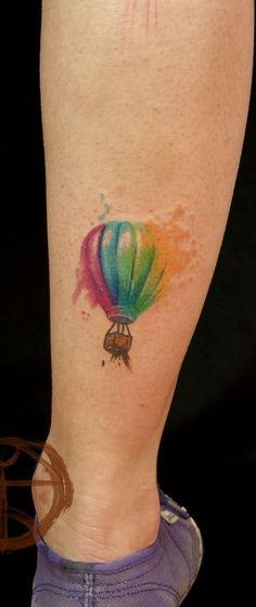 great hot air balloon tattoo!